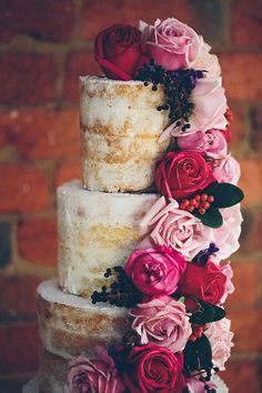 Bolo de Casamento - Decoração de Casamento em Tons de Rosa