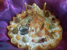handmade candle disc with fairy