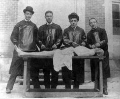 Body Snatchers  Medical students, but possibly also resurrectionists. Some inevitable crossover occurred.