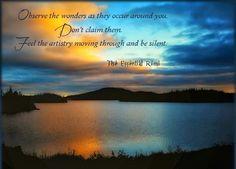 Observe the wonders