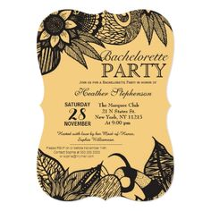 Black & Golden Yellow Floral Tangle Drawing Card