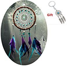 The dream catcher is a handmade craft originated from the Native American culture. It is a woven net or web decorated with certain materials such as shells, leather, beads, gemsto