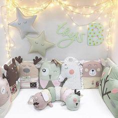 Бортики в кроватку для ребенка в подарок Единорог
