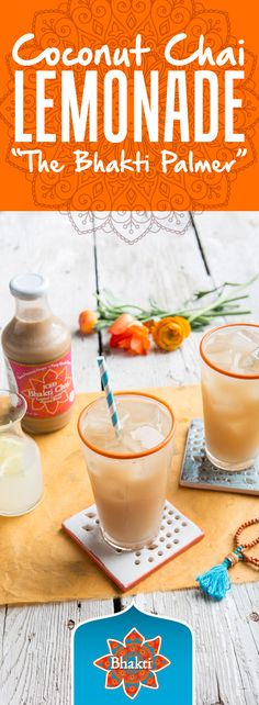 Add a splash of vodka to our Bhakti Palmer recipe for an adult version of fired up Coconut Chai Lemonade. The perfect summer sip.