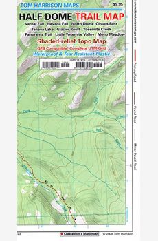 Half Dome Trail Map of the most famous rock in Yosemite Hiking Maps, Trail Maps, Yosemite National Park, National Parks, Tuolumne Meadows, Merced River, Half Dome