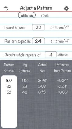 What a useful app! For when your gauge doesn't match the pattern gauge
