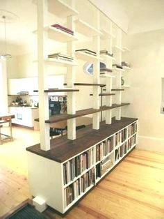 Incredible Pallet Room Divider Ideas - Home Professional Decoration Ikea Room Divider, Room Divider Shelves, Hanging Room Dividers, Living Room Shelves, Living Room Storage, Wall Dividers, Bedroom Storage, Diy Bedroom, Studio Decor