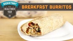 Prep ahead breakfast burritos - freeze then micro - yum! can be SW friendly with a HeX B wrap :)