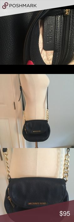 Michael Kors Dark Blue Bedford Crossbody Michael Kors Dark Blue Bedford Crossbody bag  Gorgeous color  Impeccable leather and hardware is excellent condition Barely used Great little bag Michael Kors Bags Crossbody Bags