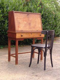 Alter kleiner Sekretär - um 1930 - Eiche in Antiquitäten & Kunst, Design & Stil, 1920-1949, Art Déco | eBay