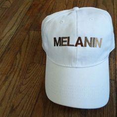 "***NEW ITEM ALERT*** ""MELANIN"" toned hat now on our etsy!"