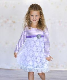 Loving this Lavender Lace Anna Dress - Infant, Toddler & Girls on #zulily! #zulilyfinds