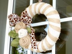 Wrap around a foam wreath for holiday (or year round) cheer