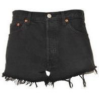 Levi 501 Faded Black Denim Shorts 27 as seen on Lily Aldridge