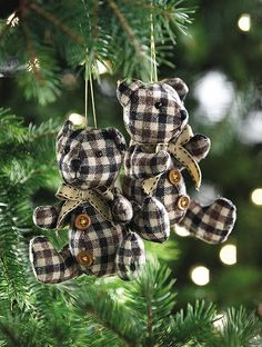 Teddy bear ornaments. #holiday2012 HomeDecorators.com