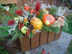 podzimní truhlíky s přírodnin
