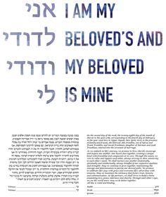 I am My Beloved's - Midnight Ketubah by Adriana Saipe