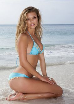 2015 Luli Fama Swimwear Si Soy Sirena Triangle Top and Thong Bottom - Main - triangle bikini