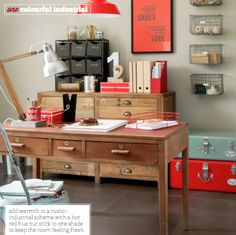 ♥ love the coral accents Want to blend coral and blue--but tranquil like.