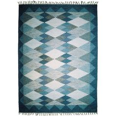 Swedish Flatwoven Carpet-designer Ulla Parkdah   From a unique collection of antique and modern russian and scandinavian rugs at https://www.1stdibs.com/furniture/rugs-carpets/russian-scandinavian-rugs/