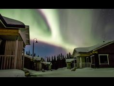 Northern lights in Pello in Lapland Finland