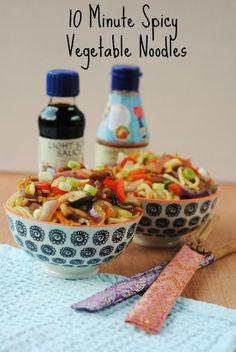 10 Minute Spicy Vegetable Noodles