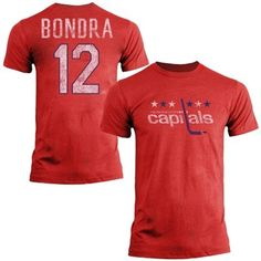 Mens Washington Capitals Peter Bondra Old Time Hockey Red Name   Number T- Shirt e7b6aa592