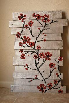 Image result for pallet art flowers