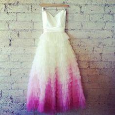 Image result for dip dye wedding dress