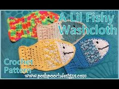 A Lil Fishy Washcloth Crochet Pattern - YouTube