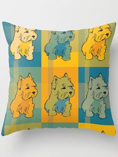 """""""Westy"""" throw pillow cover by Megstuff"""
