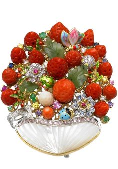 ❥Strawberry Frost Ring❥ By Santagostino Gioielligold