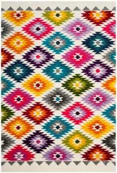 <div>Whimsical, nesting circle motifs pop from the plush pile of this Fiesta shag. Striking rainbows of color and texture fill the luminous patterns artfully reaching across this playful shag floor covering.</div>