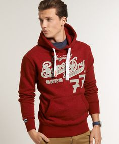 Shop Superdry Mens Original 77 Hoodie in Bordeaux Nep Marl. Buy now with  free delivery from the Official Superdry Store.