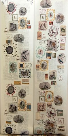 Collage style wallpaper by Rosemary Milner - you could do this @Corinne Lee-Cooke