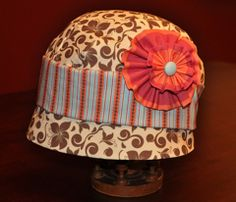 """CLOCHE HAT - CUT AND SEW 23.5"""" on Spoonflower"""