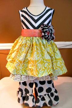 Giggle Moon Joy and Laughter Madison Dress with Ruffle Pant... I Have this Dress but I can't find the pants anywhere!!!!!!!