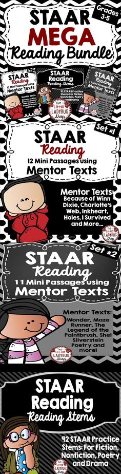 STAAR   STAAR   STAAR Reading STAAR Reading BUNDLE {Includes 92 STAAR Stem Task Cards, 23 Mentor Warm-Ups}   STAAR Reading  STAAR Stems   STAAR Task Cards   STAAR Mentor Texts ★STAAR Reading PREP Bundle! All of my BEST Selling STAAR Reading Materials have been combined into 1 ZIP File for you to purchase together at a lower price★ Reading Test, 5th Grade Reading, 5th Grade Centers, Test Preparation, Mentor Texts, Reading Material, Task Cards, Prepping, I Am Awesome