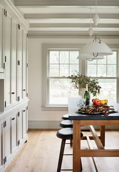 39 Ideas Farmhouse Dining Room Colors Beams For 2019 Dining Room Colors, Dining Room Design, Dining Area, Dining Rooms, Small Dining, Interior Trim, Interior Design, Interior Colors, Modern Interior