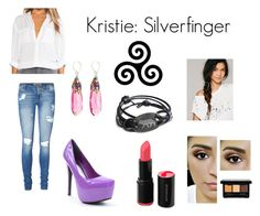 """Kristie: Silverfinger"" by tvdcjm ❤ liked on Polyvore featuring Vero Moda, Miguel Ases, Free People and Vince"