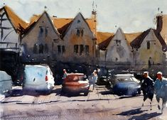 Chipping Sodbury, watercolor painting (by numbers) by Tim Wilmot