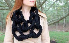 enrHedando: Como Tejer una Bufanda con forma de Cadena -Tutorial-