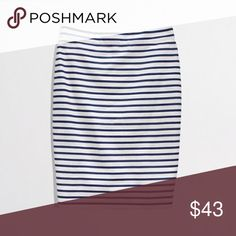 J. CREW THE PENCIL SKIRT IN NAUTICAL STRIPE Classic J. CREW PENCIL SKIRT, NWOT, never worn, no issues. J. Crew Factory Skirts Pencil