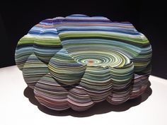 'cloud' by richard hutten for kvadrat, a chair made from layered kvadrat felt