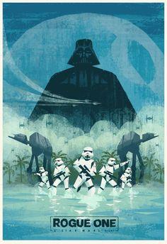 Rogue One Scarif Poster by Travis Ruiz