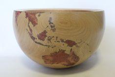 Simon Begg, globe bowl. Globe bowl #newideas #woodturning #globe #map #bowl