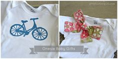 handmade Onesie baby gifts and other baby gifts