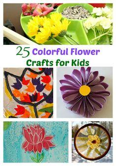 25 Colorful Flower Crafts for Kids | The Jenny Evolution