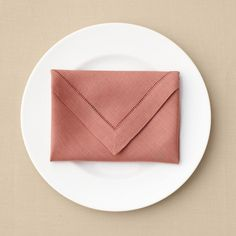 Perfect envelope-folded napkin to hold a menu, Valentine, or other surprise...