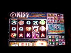 Slot bonus win on Kiss slot machine at Borgata casino in AC